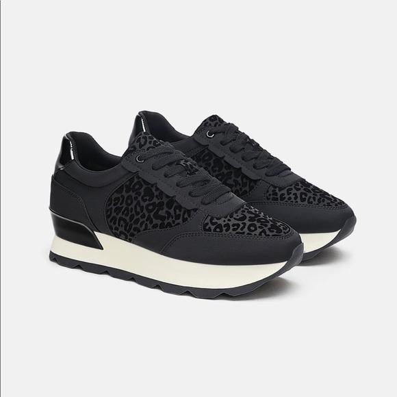 Zara Shoes   Zara Animal Print Sneakers